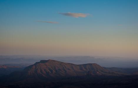 Earth shadow in the Jbel Sarhro