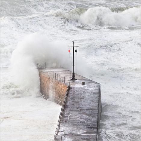 Storm at Porthleven Pier