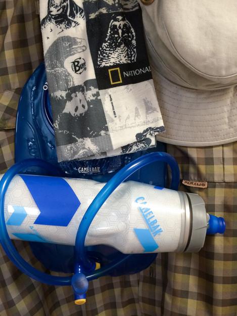 Water bottles shot